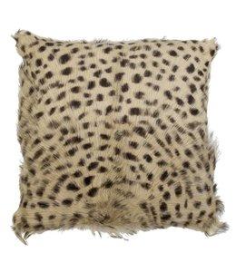 Kissenhülle Leopard - Ziegenleder 40x40