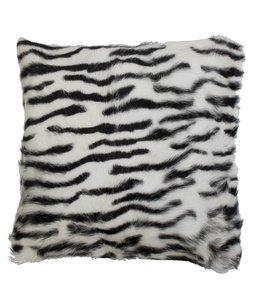 Kissenhülle Ziegenfell - Zebra 40x40