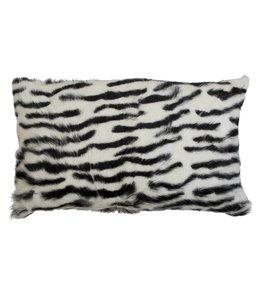 Kissenhülle Ziegenfell - Zebra 30x50
