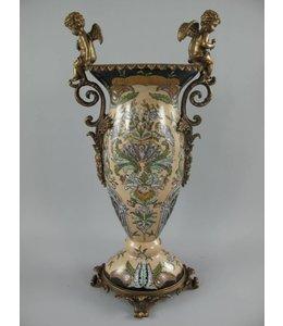 "Deko-Vase Porzellan ""Messing Engel"" Vintage"