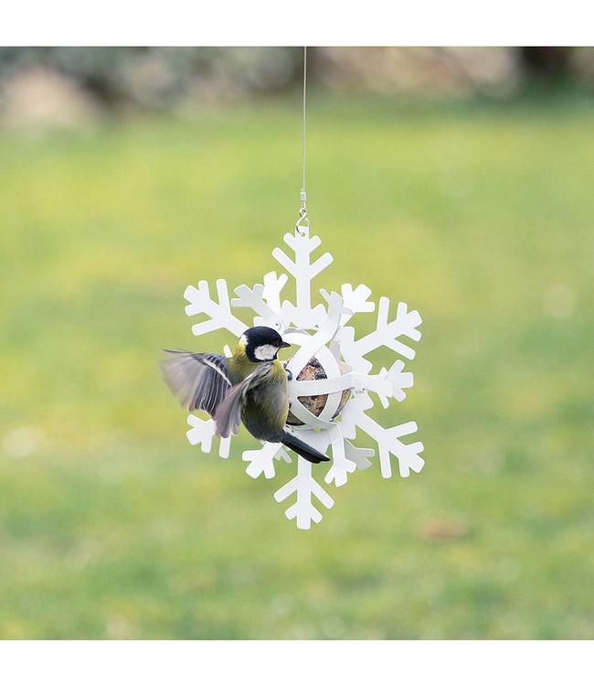 Meisenknödelspender Schneestern weiß