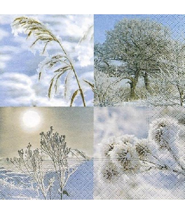 Servietten Winterlandschaft