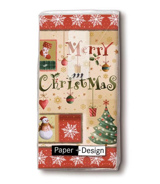 """Taschentücher """"Merry Christmas"""""""