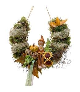 Bogen mit Kürbiskind - Herbstdekoration