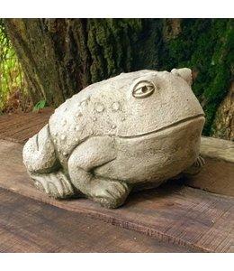 """Steinfigur """"Ochsenfrosch"""" mit Antik-Patina für den Landhausgarten"""