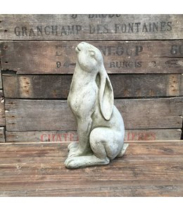 Gartendeko Vintage Steinfigur Hase