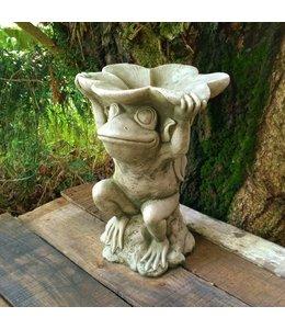 """Gartenfiguren Steinfigur """"Frosch"""" mit Antik-Patina für den Landhausgarten"""