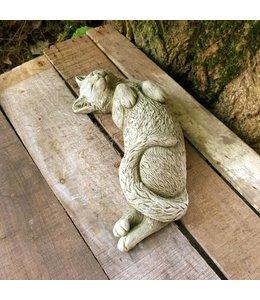 """Gartendeko Vintage Gartenfigur """"Katze schlafend"""" Steinfigur"""
