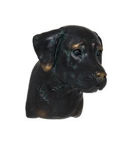 Labrador-Kopf handbemalt mit Bronze-Finish