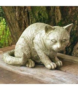 """Gartendeko Vintage Gartenfigur """"Katze"""" Steinfigur"""