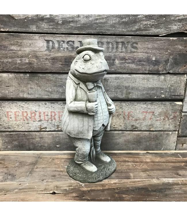 Steinfigur Frosch-Gentleman