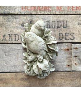Wanddekoration Vögel aus Stein
