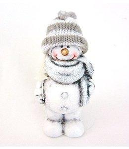 Schneemann mit Mütze für den Wintergarten