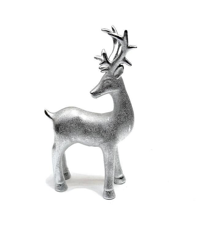 Rentier silber-matt Porzellan