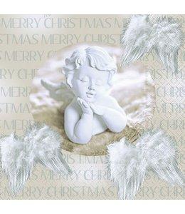 Servietten Vintage Servietten Weihnachtsengel - Merry Christmas