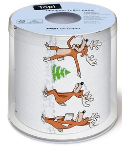 Toilettenpapier Rentiere - Beeilung