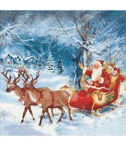 Servietten Vintage Servietten - Santa on tour