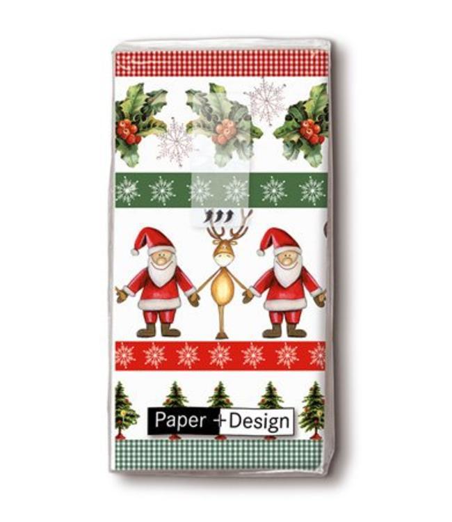 """Taschentücher """"Weihnachtsmann und Rentier"""""""