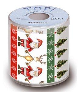 Paper+Design Toilettenpapier - Weihnachtsmann mit Rentier