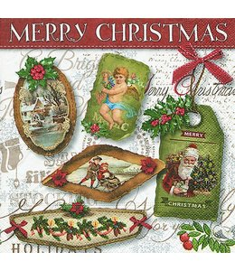 """Servietten Vintage Servietten """"Weihnachtsanhänger"""""""