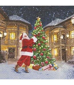 """Servietten Vintage Servietten """"Santa in der Stadt"""""""
