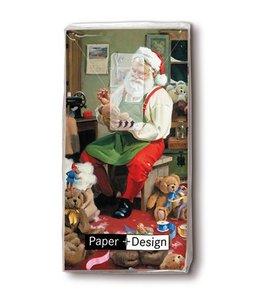 """Taschentücher """"Santa bei der Arbeit"""""""