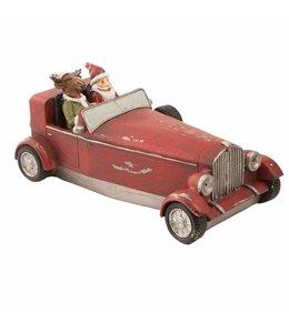 Weihnachtsmann im Auto