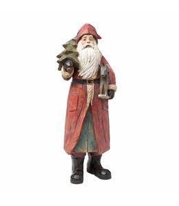 Weihnachtsmann mit Schaukelpferd