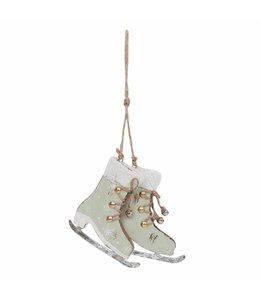 Weihnachtsbaum-Anhänger Schlittschuh grün
