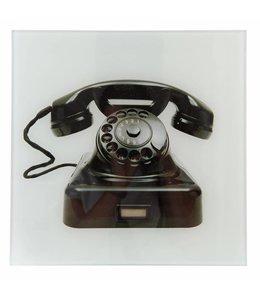 """Clayre & Eef  Wandbild Landhaus """"Nostalgisches Telefon"""" 30x30"""
