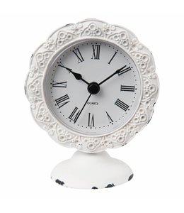 Weiße Uhr für den Wintergarten