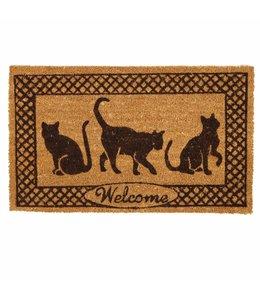 Fußmatten Vintage Türmatte Katzen
