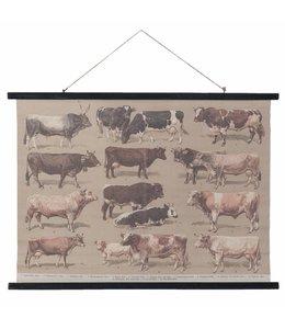 Wandkarten Vintage Wandkarte Kühe