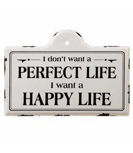 """Schilder Vintage Deko-Schild """"Happy Life"""""""