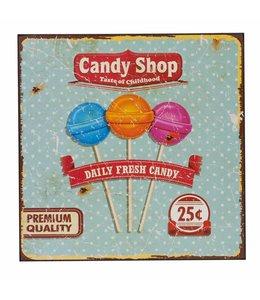 """Deko-Schild """"Candy Shop"""" Vintage"""