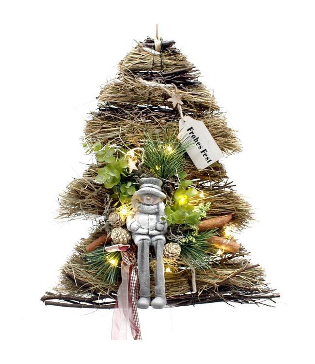 """Weihnachtsdekoration """"Baum mit Schneemann"""" LED"""