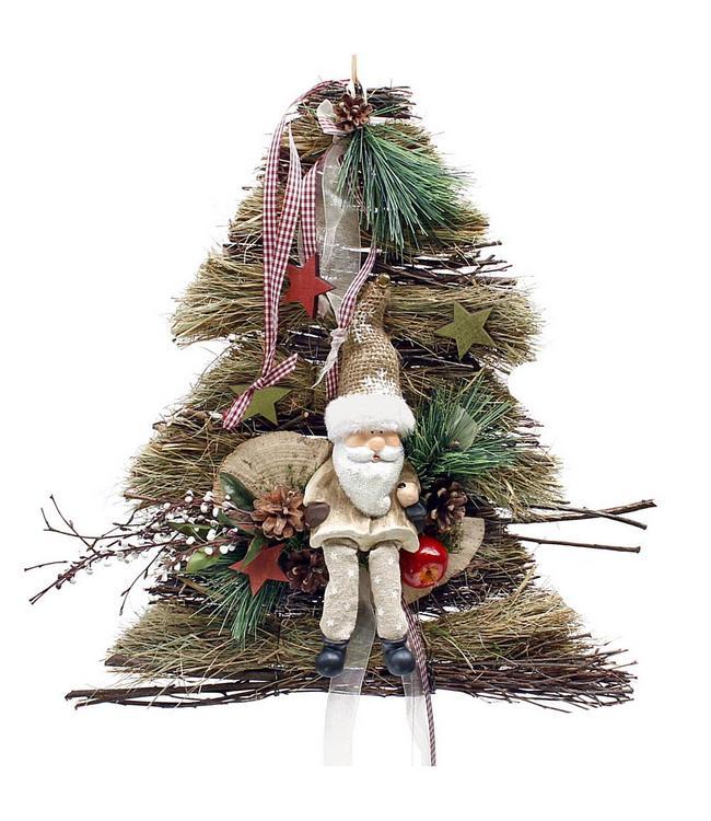 Deko-Aufhänger Baum mit Weihnachtsmann