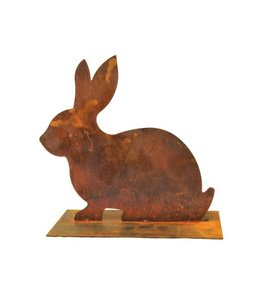 Osterdeko Vintage Hase aus Metall - Rostige Gartendekoration