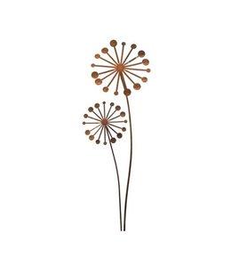 """Gartenstecker Edelrost """"Pusteblumen"""" 112 cm"""