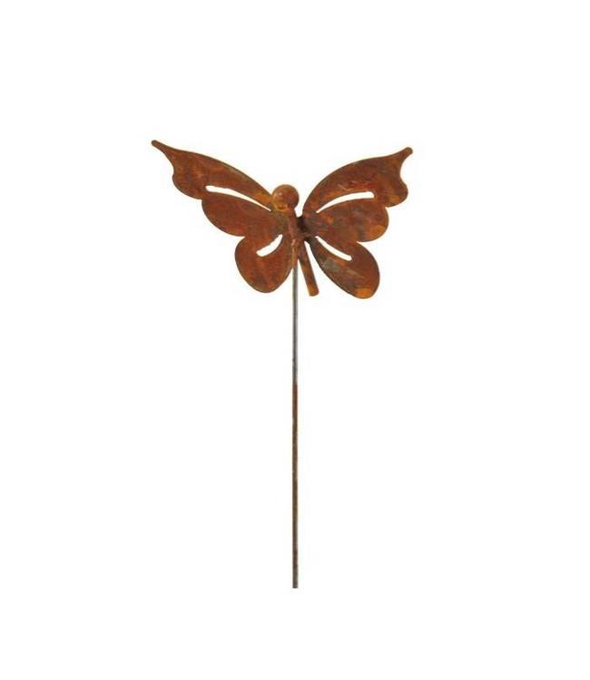 Rankstab Schmetterling - Rostige Gartendeko