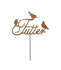 Gartenstecker Vintage Gartenstecker Vogelfutter - Rostige Gartendeko
