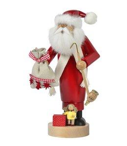 Weihnachtsdeko Räuchermann Weihnachtsmann mit Puppe