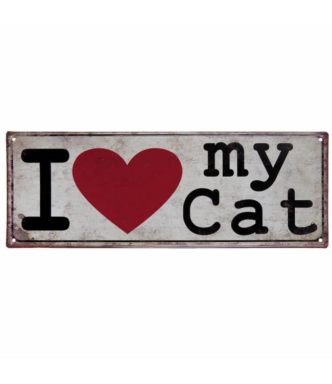 "Dekoschild ""I love my Cat"" Vintage"