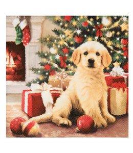 """Servietten Vintage Servietten """"Weihnachten mit Hund"""""""