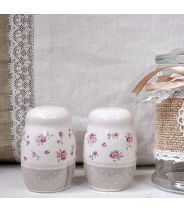 Salz und Pfefferstreuer mit Blumenmotiv