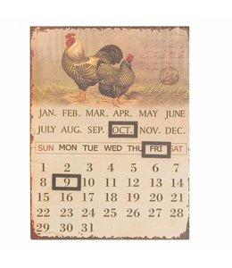 "Kalender Vintage Kalender ""Hühner"" im nostalgischen Landhausstil"
