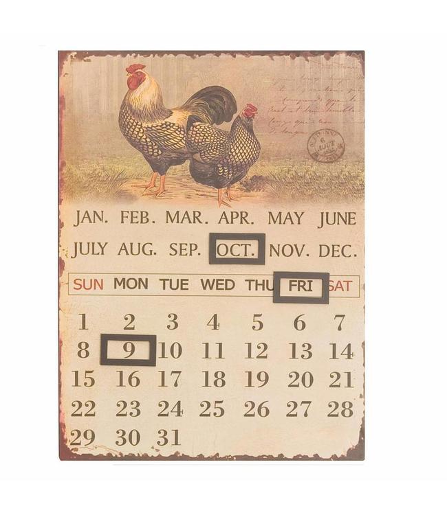 """Kalender """"Hühner"""" im nostalgischen Landhausstil"""