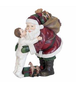 Weihnachtsdeko Vintage Weihnachtsmann mit Junge