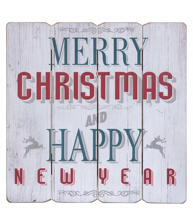 """Schild """"Merry Christmas and Happy New Year"""""""