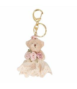 """Schlüsselanhänger """"Teddybär mit Rosen"""""""